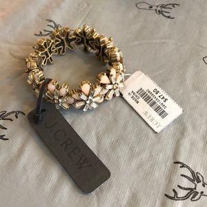 J. Crew Jewelry - J crew gemstone elastic bracelet